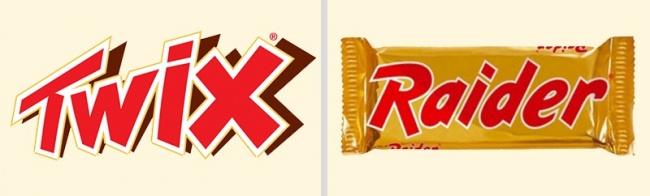 © Mars, Incorporated  Шоколадный батончик первоначально назывался Raider ивпервые начал выпус