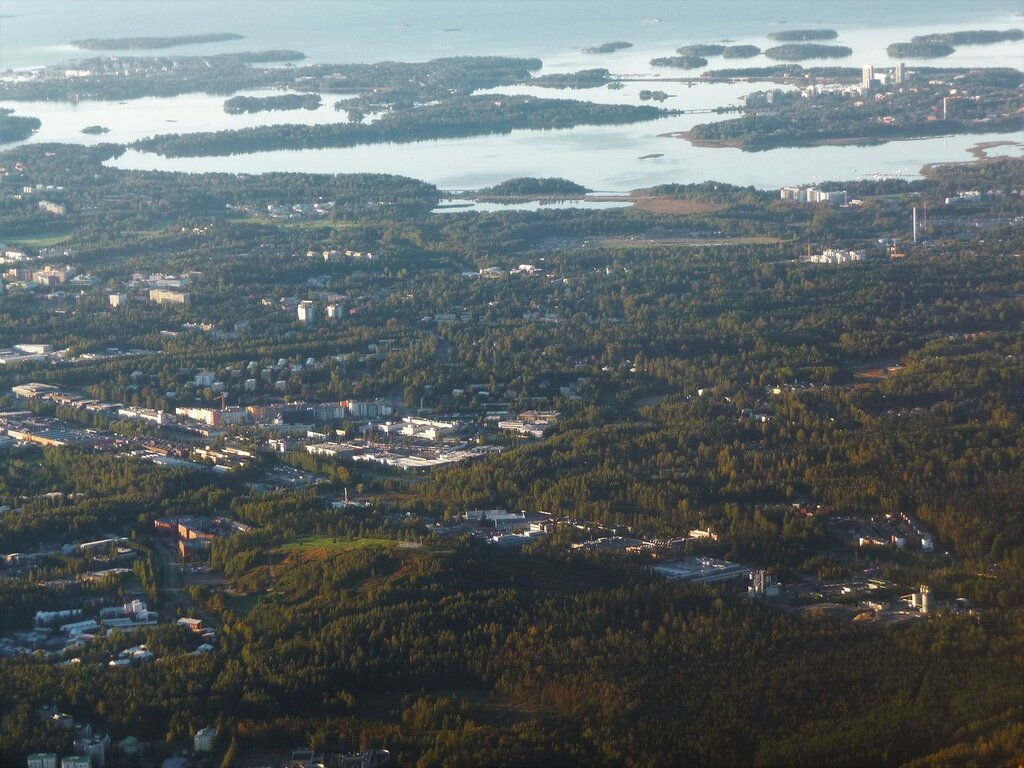 Хельсинки из окна самолёта.