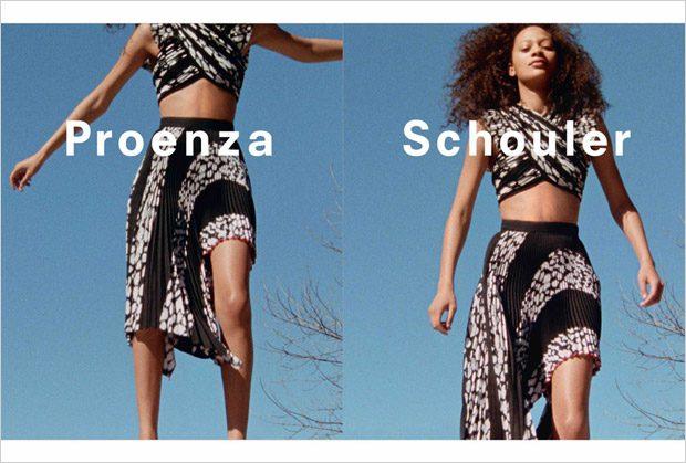 Natalie Westling & Selena Forrest Model Proenza Schouler Spring Summer 2017 Collection