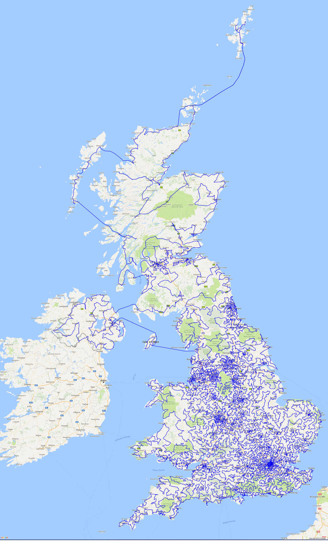 Beer overdose - Displaying all the 24,727 pubs of UK on a single map