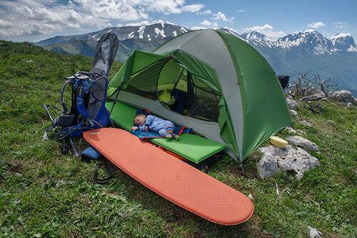 Поход с ребенком 10 месяцев на плато Черногор