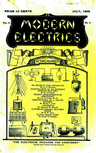 Modern Electrics: July 1909 - - Book Cover