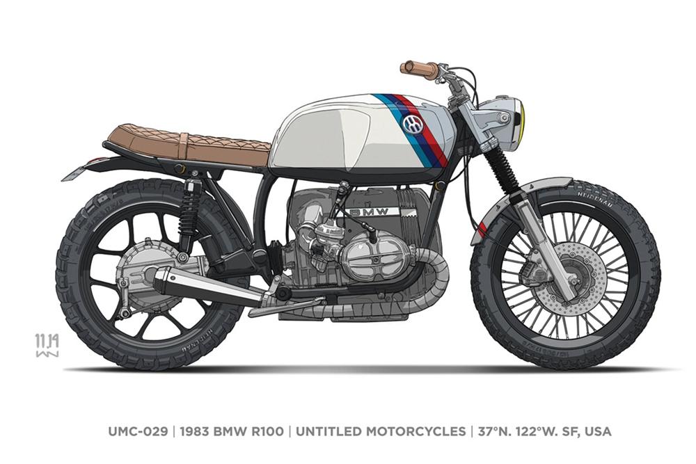 Кастом Untitled Motorcycles Kalifornia на базе BMW R100 1983