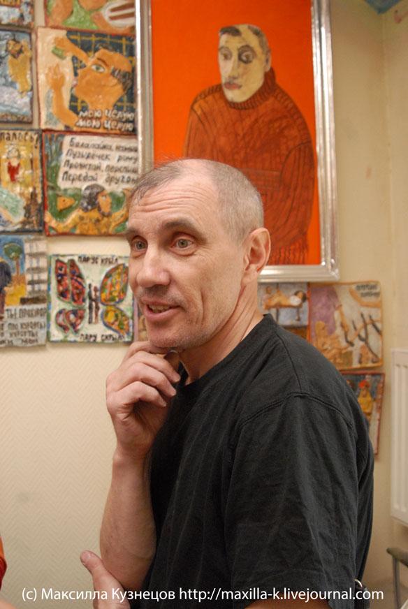Дима Широков в мастерской