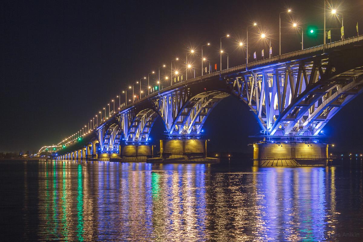 возвращение исторической подсветки на мост Саратов-Энгельс фото 8