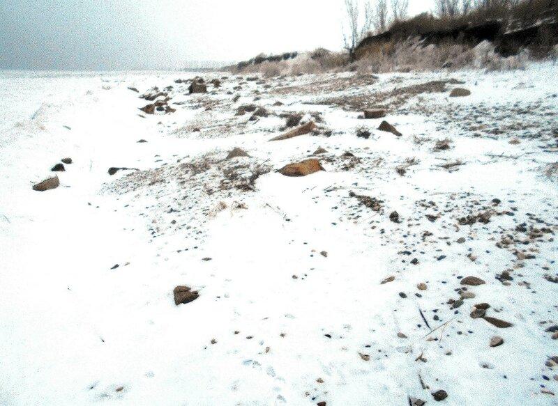 Берег ... В походе декабрьском, снежно-туманном,