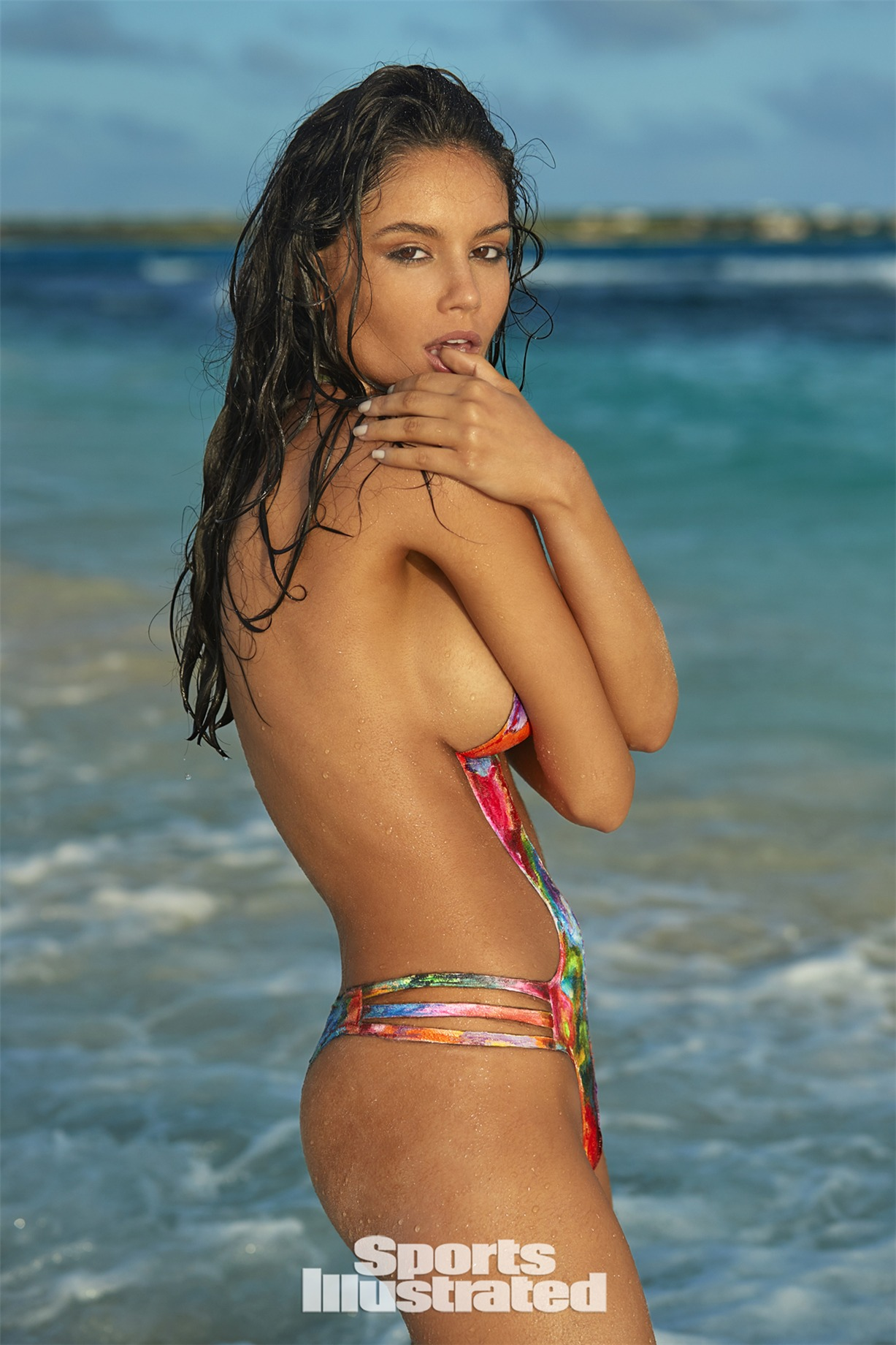 Anne de Paula / Энни ди Паула в боди-арт-купальнике - Sports Illustrated Swimsuit 2017 issue / in Anguilla by Josephine Clough