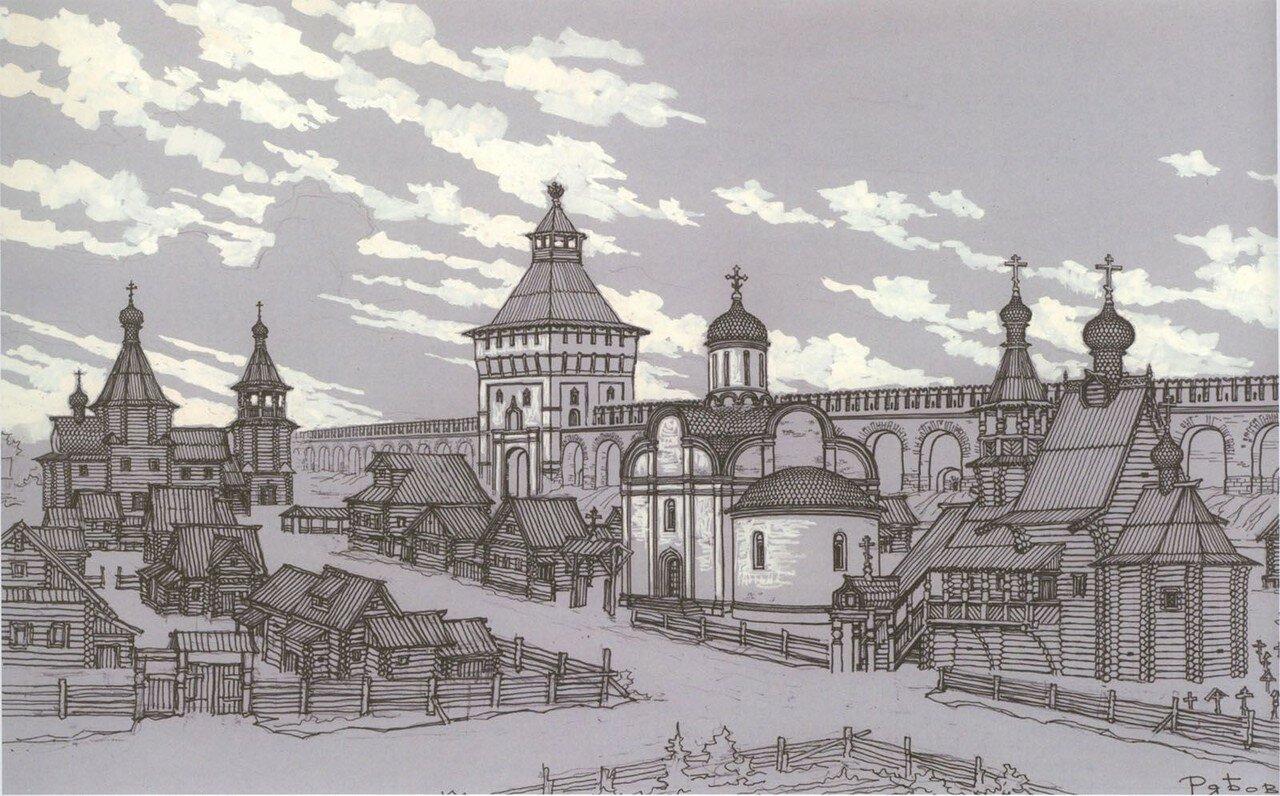 У Арбатских ворот Белого города нач. 17 века.jpg