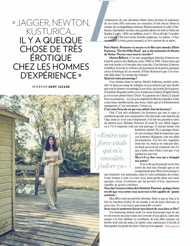 Monica Bellucci @ Paris Match 08 au 14 Septembre 2016 02.jpg