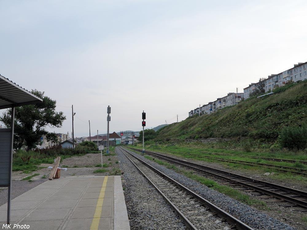 Холмск-Южный, вид на север