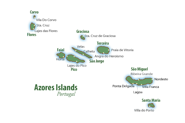 Azore Islands Map The Most Beautiful Island In The World - Portugal map azores