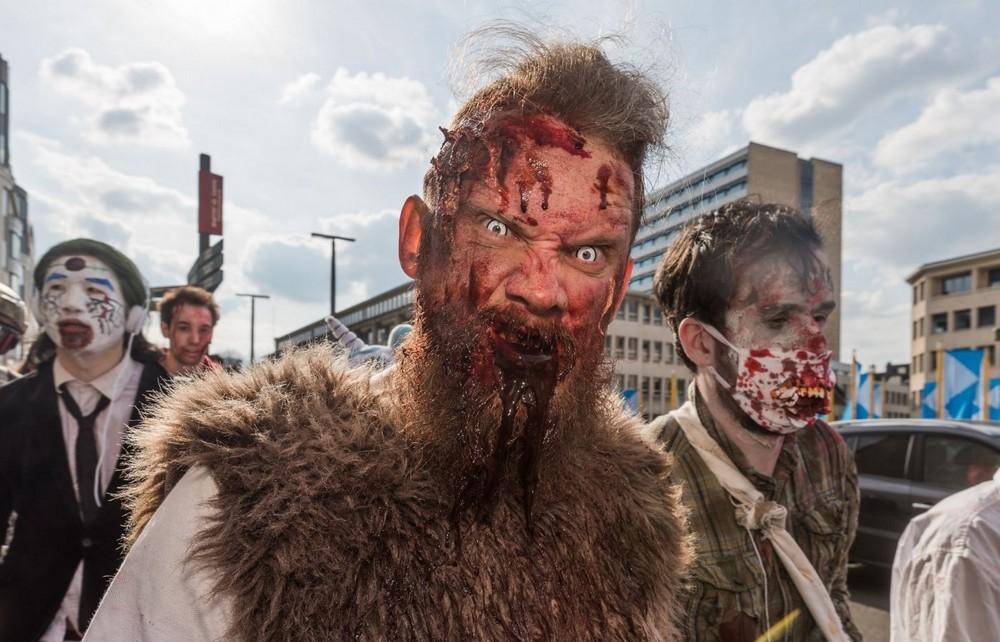 Зомби прогулялись по Брюсселю
