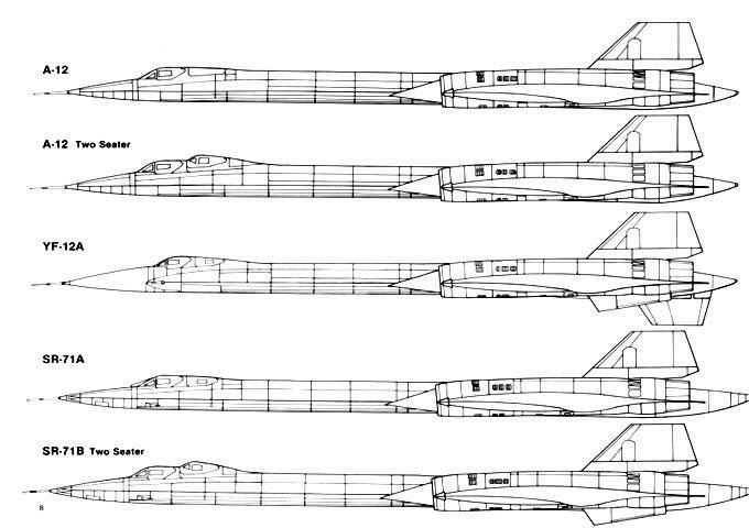 a12 yf12 sr71 profiles
