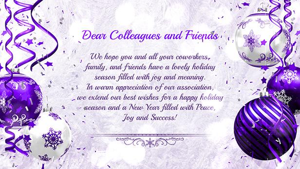 Christmas Card - Light Purple