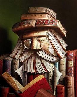 День библиотек. Философ из книг с книгой открытки фото рисунки картинки поздравления