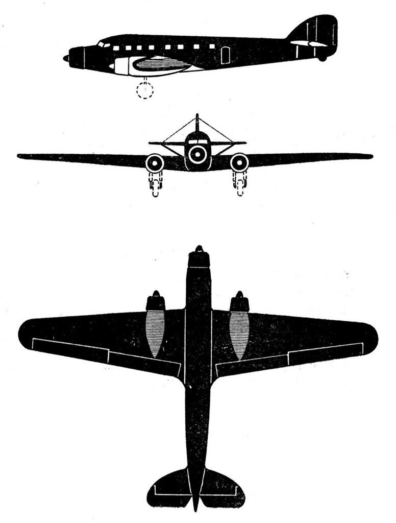 Силуэты итальянских самолетов (1939) 067