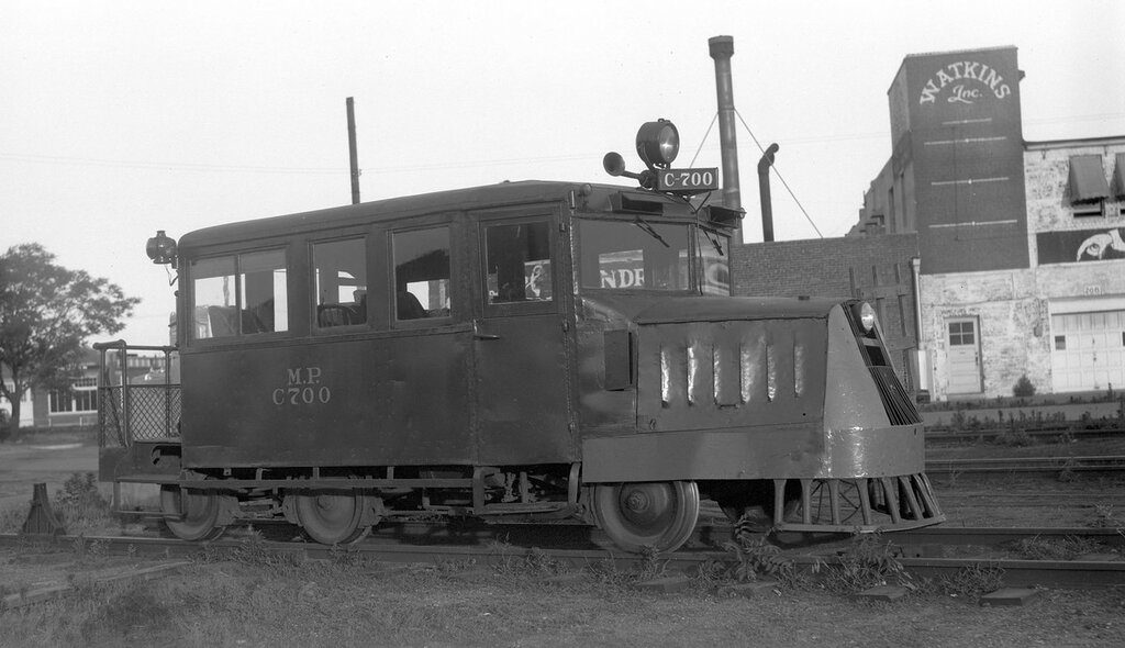 Missouri Pacific motor car, engine number C-700, Wichita, Kans., June 15, 1946.