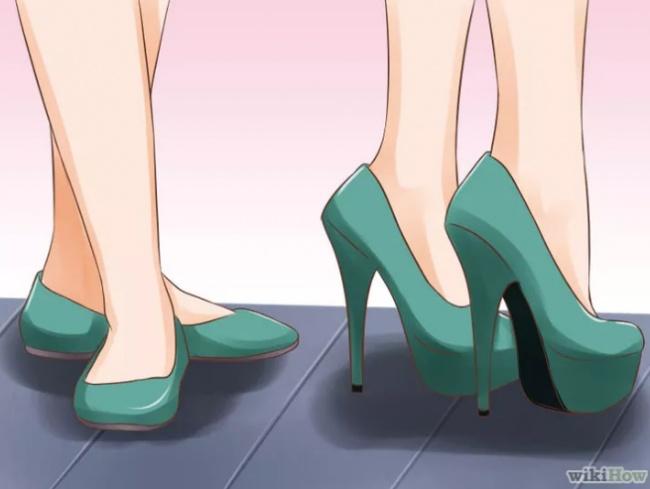 Чередуйте разную высоту каблука, нопредпочтение отдавайте удобной обуви. Постоянное ношение шпи