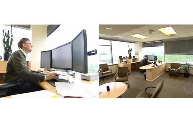 3. Билл Гейтс «Microsoft» В те времена, когда Билл Гейтс руководил компанией, его кабинет отличался