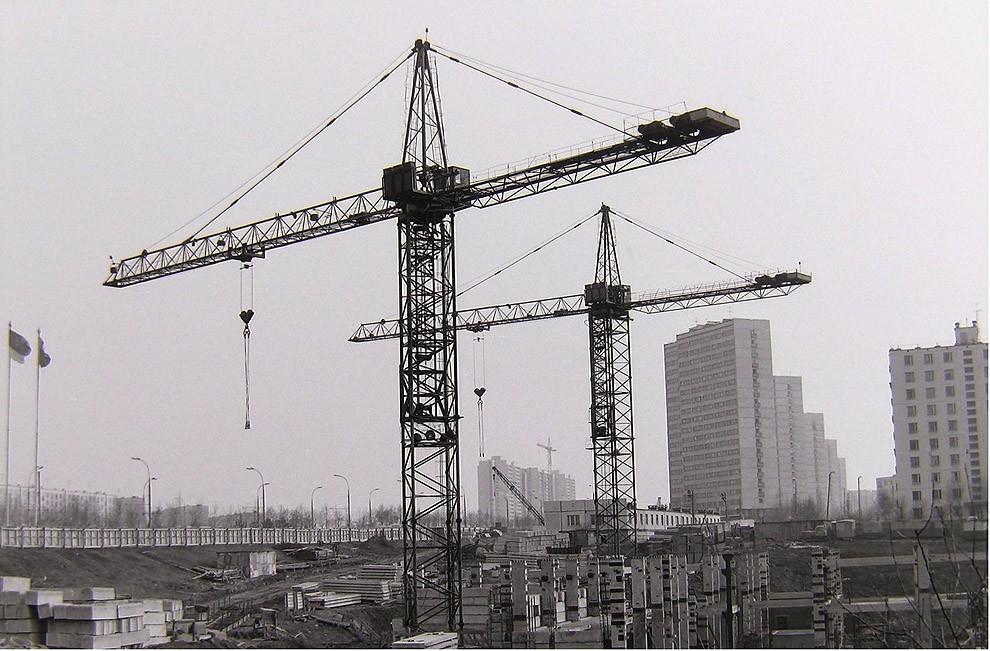 26. Москва, Юго-Запад, строительство гостиницы «Спорт», 1976 г.