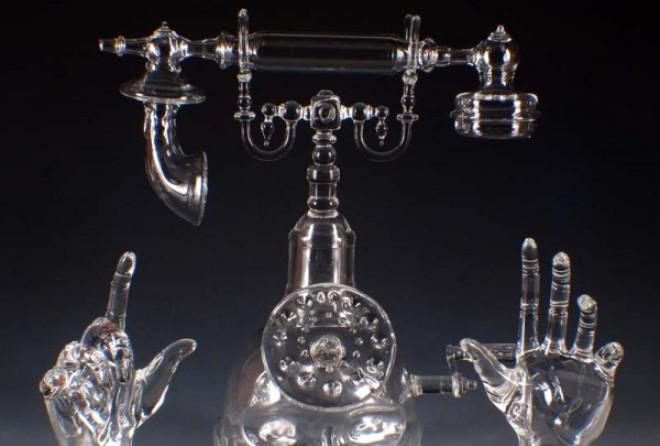 Завораживающие стеклянные скульптуры Роберта Микельсона (6 фото)