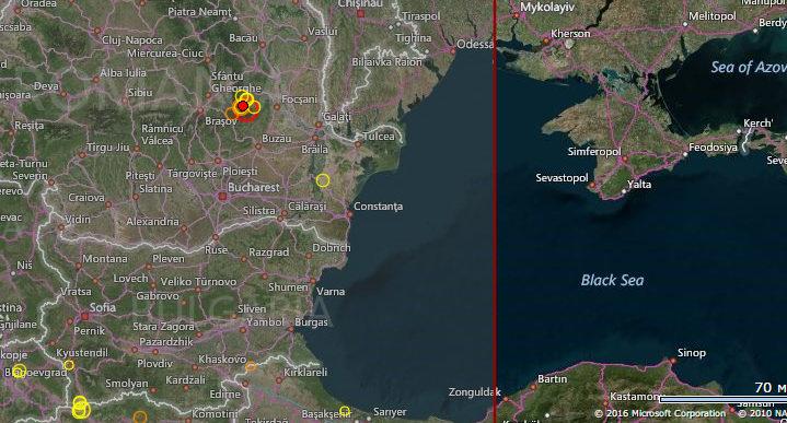 ДоОдессы, Николаева и столицы Украины докатилось землетрясение, случившееся врумынских горах