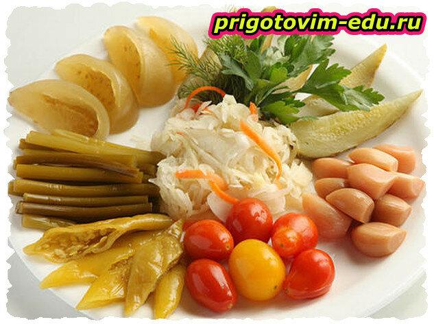 Пряные малосольные овощи