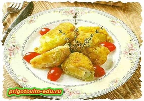 Капуста, фаршированная сыром