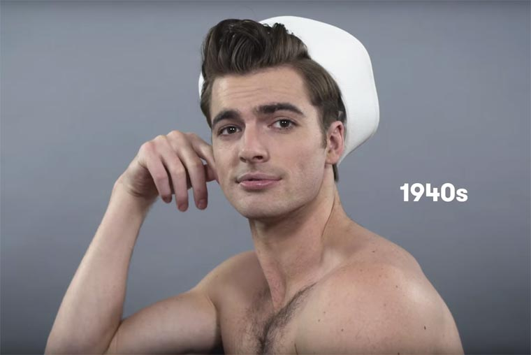 100 years of beauty in one minute - The evolution of hairstyles for men