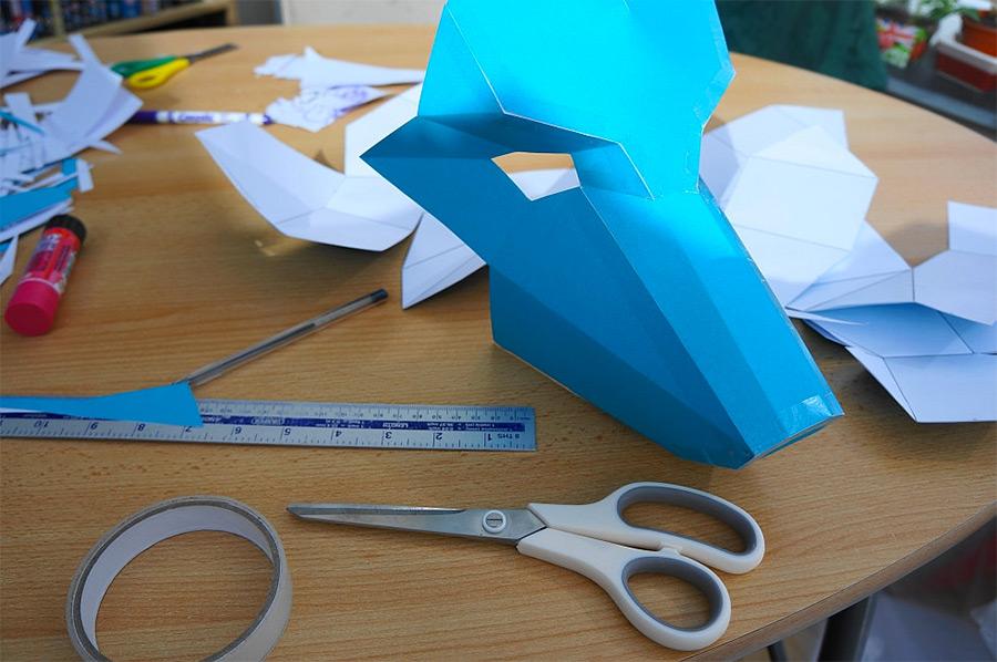 DIY Geometric Paper Masks by Steve Wintercroft