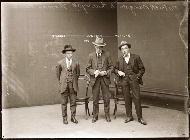 An amazing series of mugshots of criminals in the 1920s
