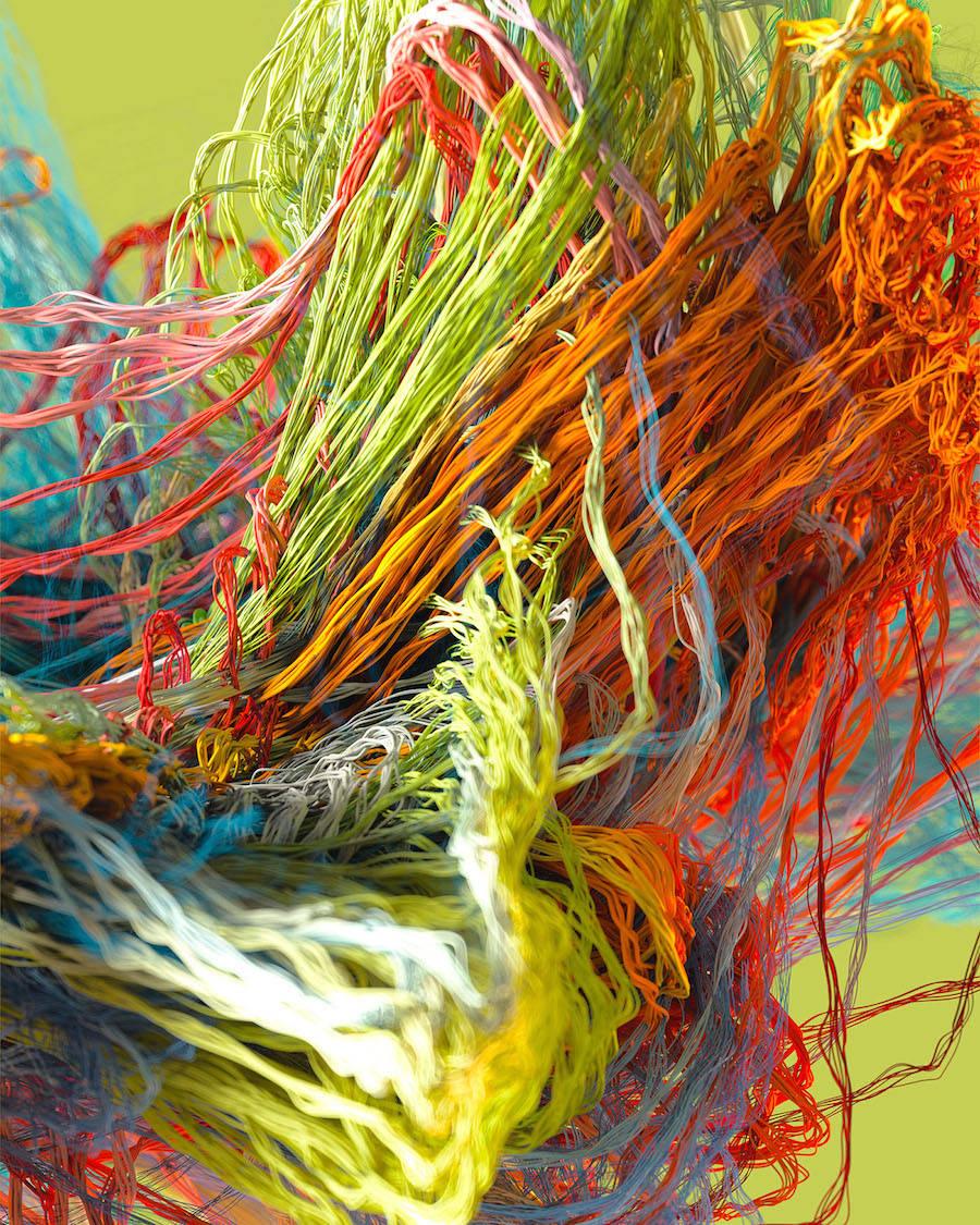 Knitted 3D Artworks by Jon Noorlander