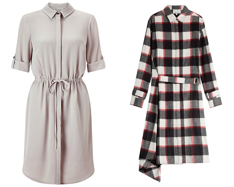 модный фасон платья 2016: платья-рубашки 1