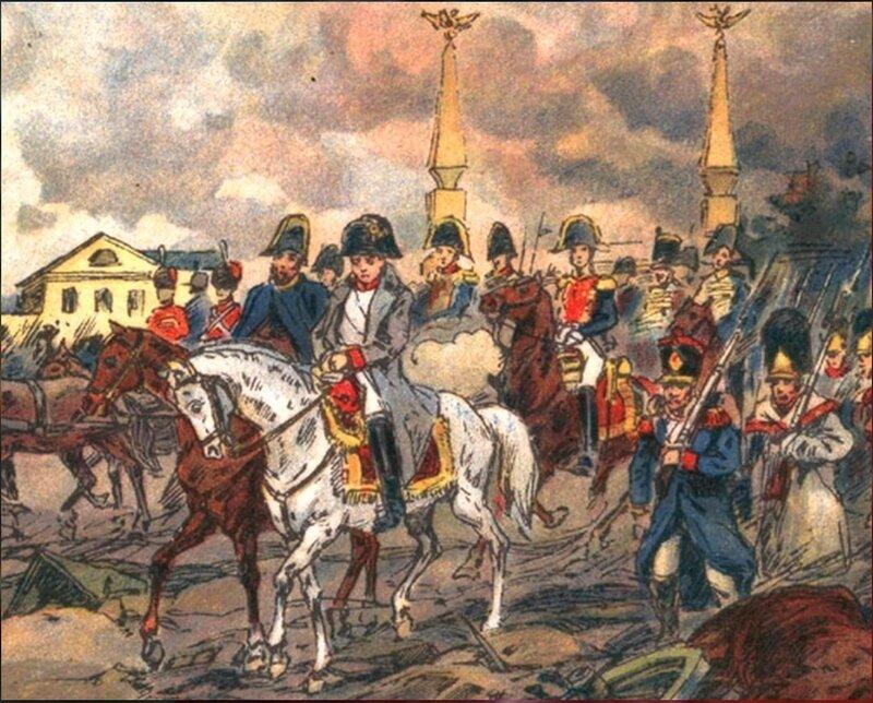 Выступление Наполеона из Москвы... 1812 год.(Фрагмент)Апсит Александр Петрович. .jpg