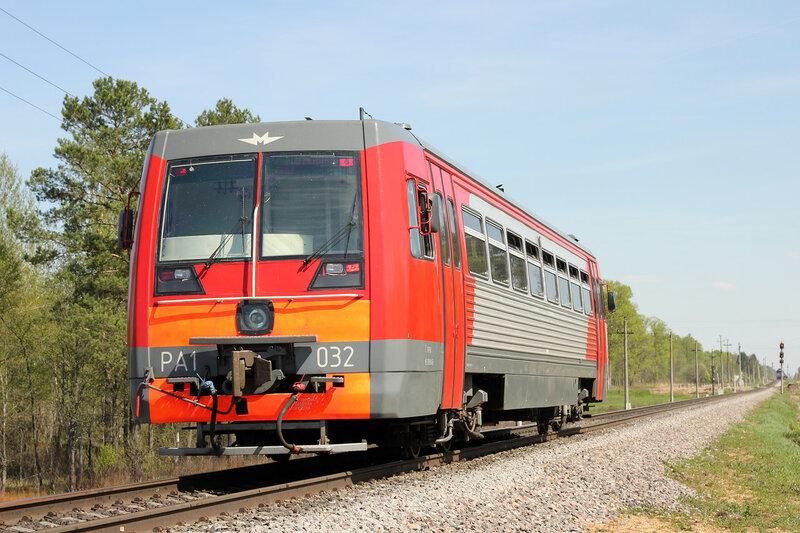 РА1-0032 пригородным поездом 6802 Великие Луки - Ржев-Балт на перегоне Нелидово - Паникля