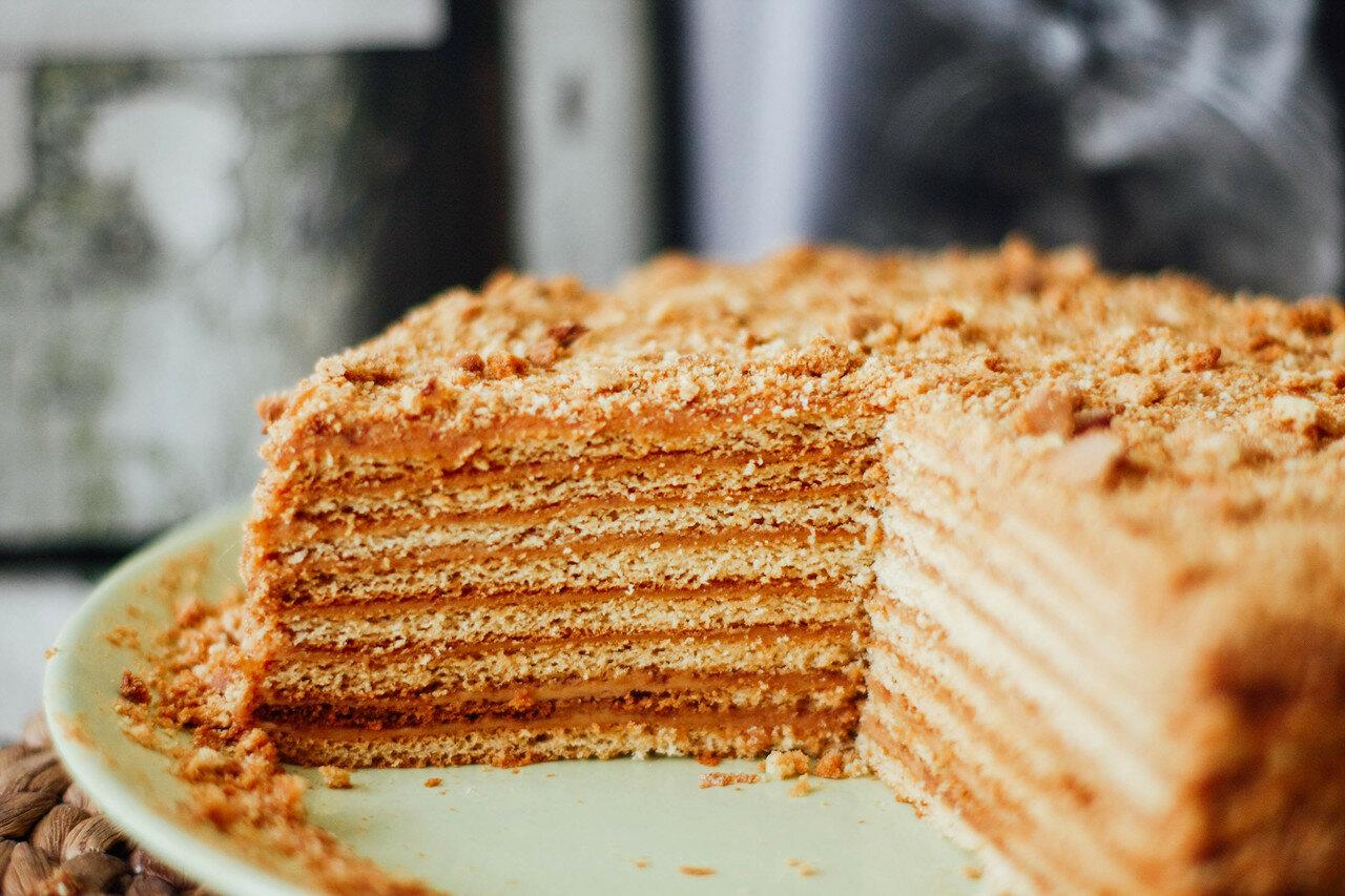 Торт рыжик классический рецепт со сметанным