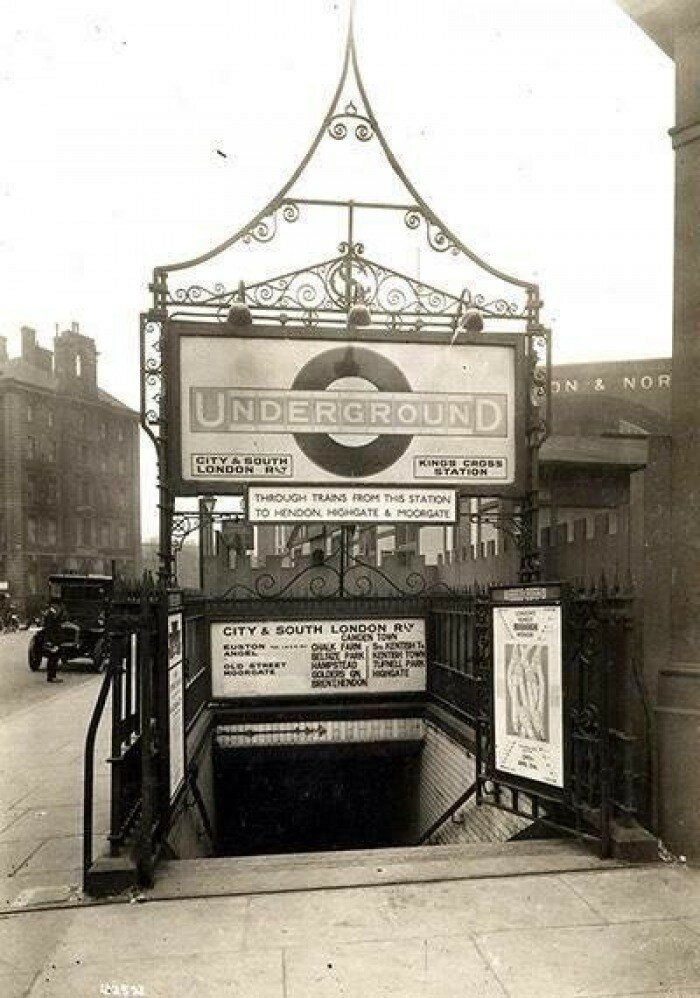 1925. Вход на станцию «Кингс-Кросс»