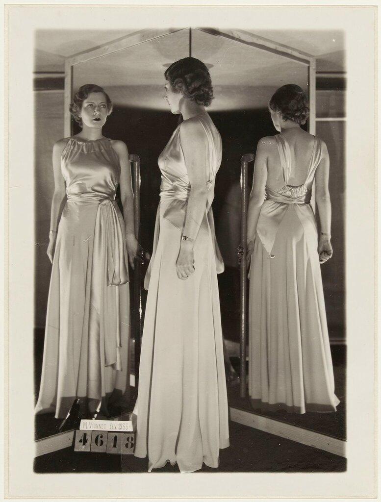 Robe du soir de Madeleine Vionnet, fйvrier 1933