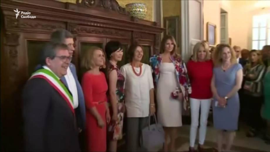 Супруги лидеров G7 совершили экскурсию по восточной Сицилии (видео)