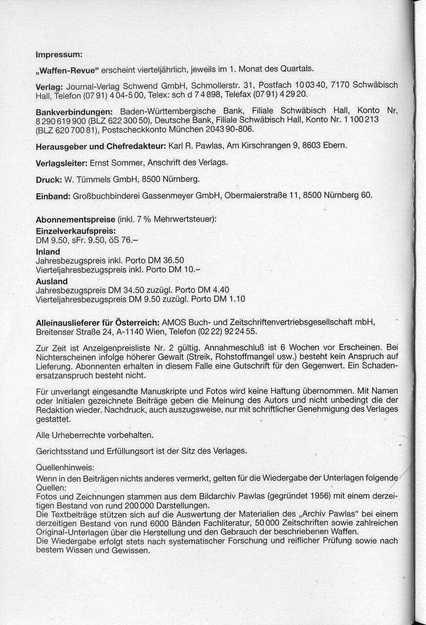 Waffen Revue Nr 76 I Quartal 1990 Sassik