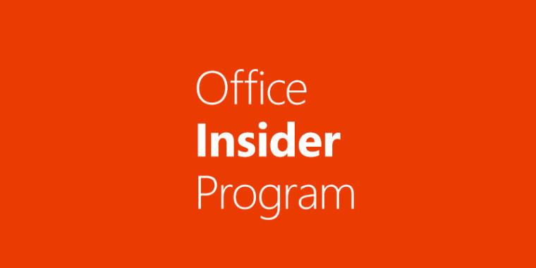 Office Insider сейчас  действует идля iOS