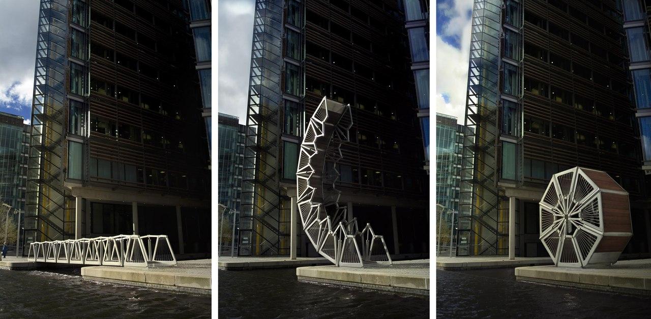 Невероятный скручивающийся мост в Лондоне