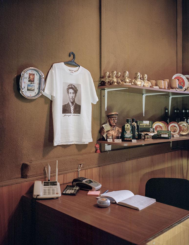 Сувенирный магазин в Музее Сталина в Гори.