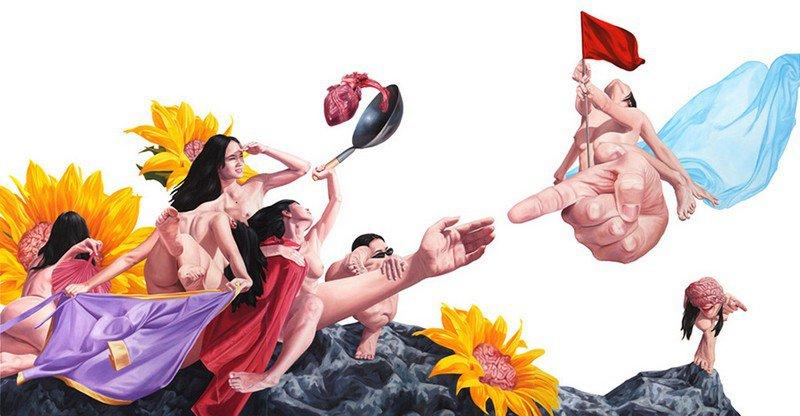 Голые и абсурдные: иллюстрации вьетнамского художника Нгуена Сюанхуя
