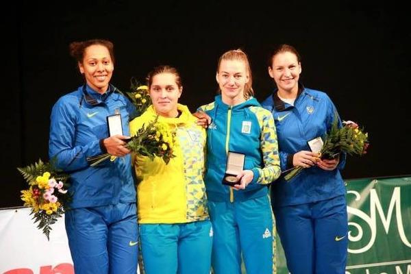 Украинка выиграла серебро наэтапе Кубка мира пофехтованию