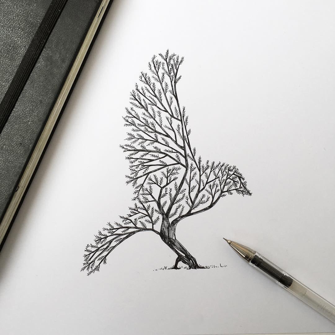 Hand Drawn Animal Illustrations by Alfred Basha