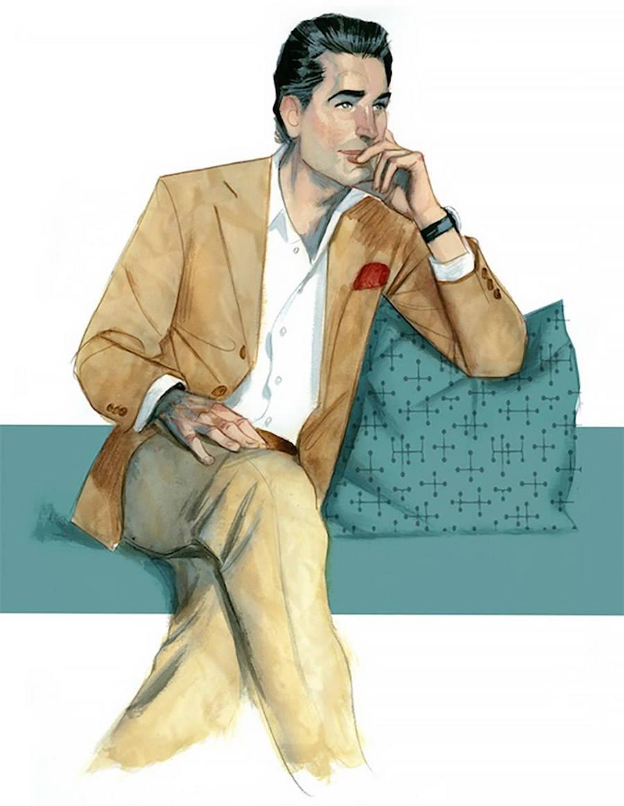 Illustrations of Gentlemen's Fashion by Fernando Vicente