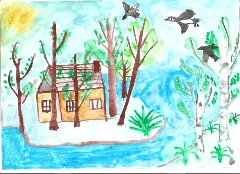 Весенняя капель - Сидоренко Юля, 6 лет, Тема -- Рисунок, с. Новоильиновка (Полтавский р-н).jpg