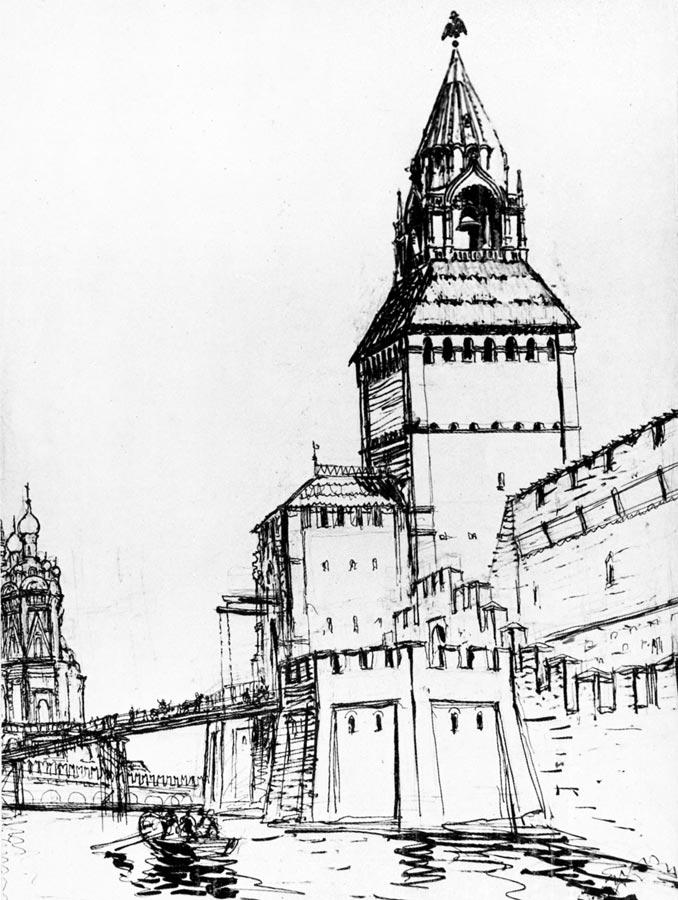 Фроловская (Спасская) башня Кремля. XVI в.