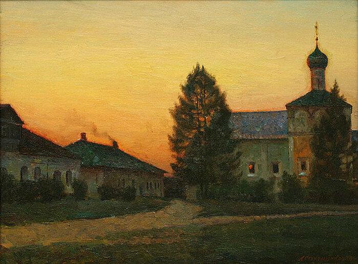 А.В. Стекольщиков - Вечер в монастыре, 1995.jpg